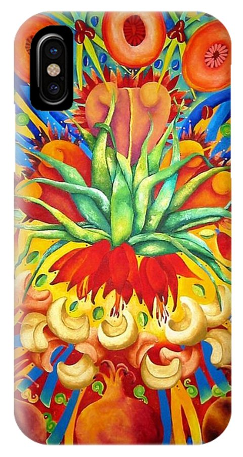 Flower IPhone X Case featuring the painting Granada by Elizabeth Elequin
