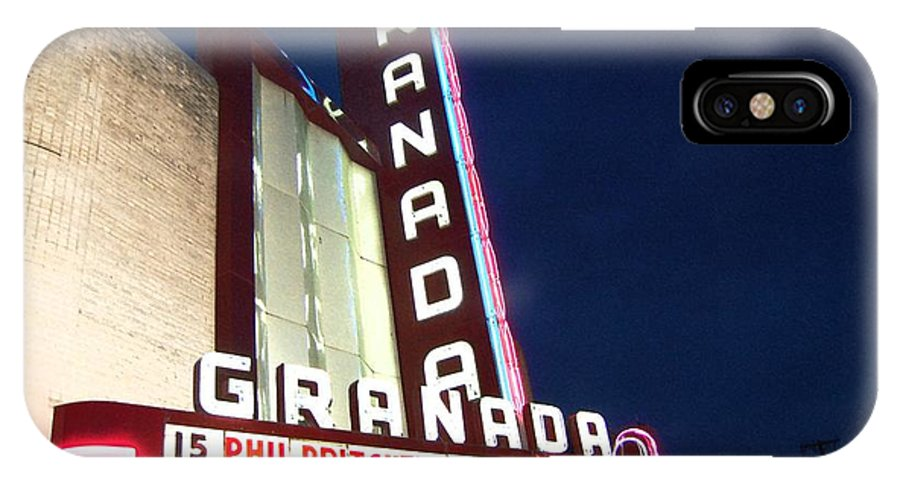 Music IPhone X Case featuring the photograph Granada Theater by Debbi Granruth