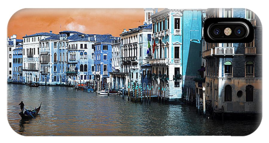 Grand Canal Pop Art IPhone X / XS Case featuring the photograph Grand Canal Pop Art by John Rizzuto