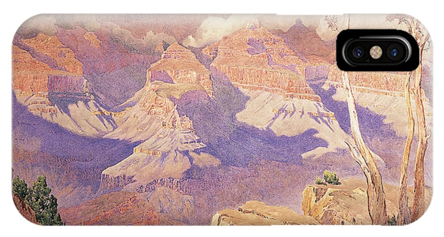 Purple IPhone X Case featuring the painting Grand Canyon, 1927 by Gunnar Widforss