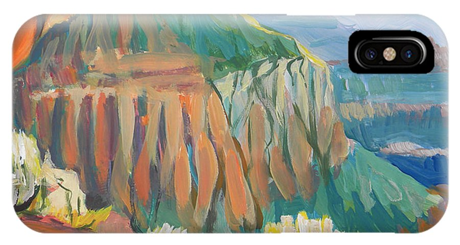 Southwest IPhone X Case featuring the painting Grand Canyon 3 by Pam Van Londen