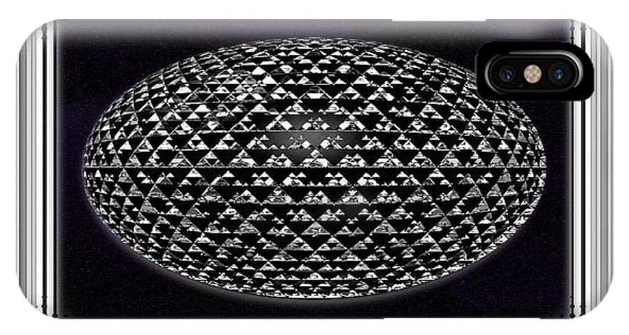 Digital Art IPhone X Case featuring the digital art Grand Embellishment by Mario Carini