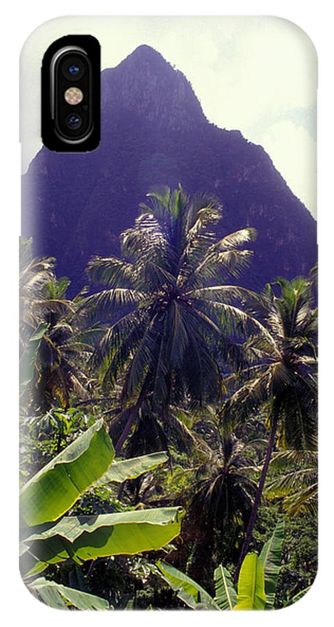 Caribbean IPhone Case featuring the photograph Grand Piton by Carl Purcell