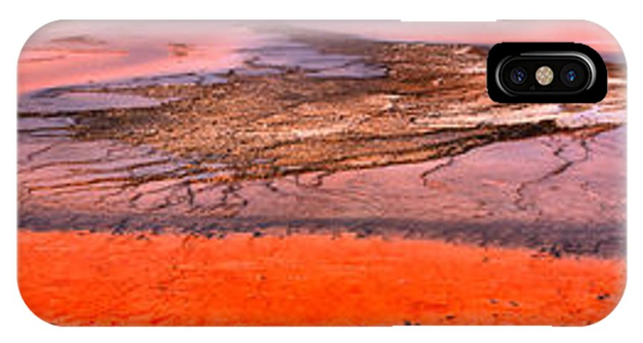 Grand Prismatic IPhone X Case featuring the photograph Grand Prismatic Algae Mat Panorama by Adam Jewell
