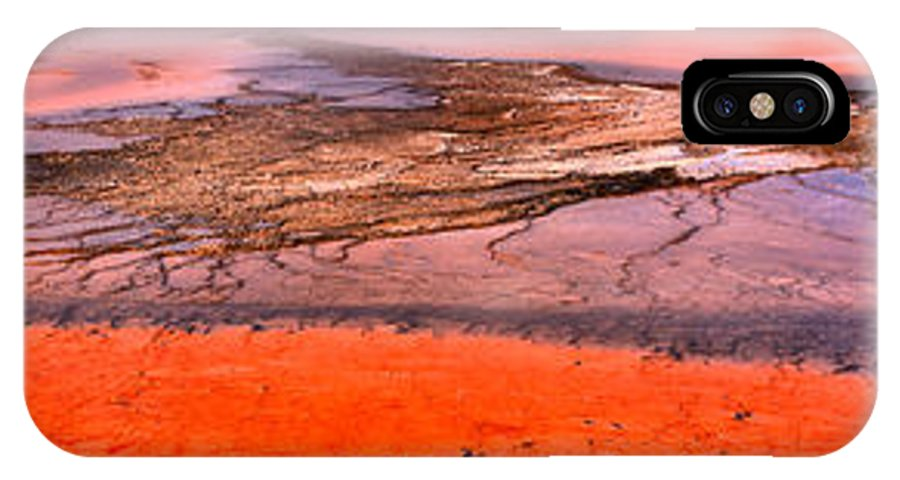 Grand Prismatic IPhone X Case featuring the photograph Grand Prismatic Panoramic Abstract by Adam Jewell