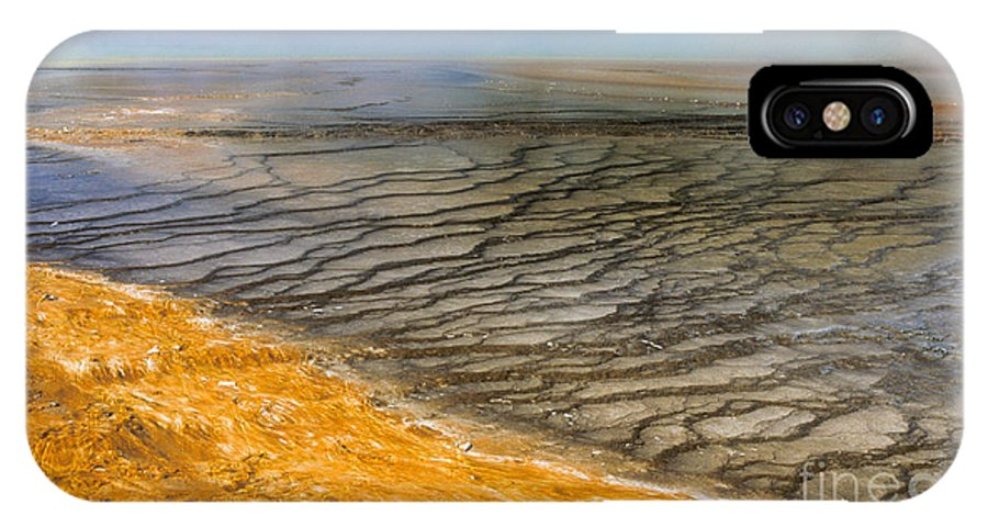 Yellowstone IPhone X Case featuring the photograph Grand Prismatic Runoff by Sandra Bronstein