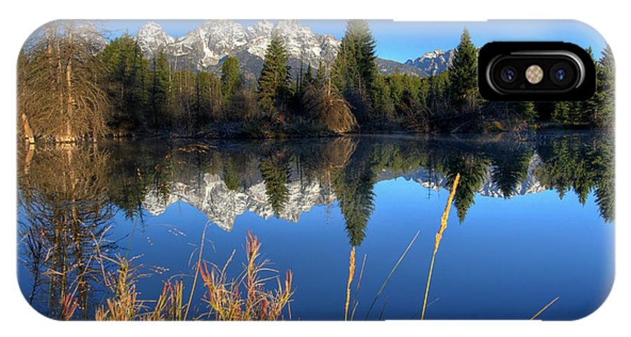 No People IPhone X Case featuring the photograph Grand Teton National Park by Brett Pelletier