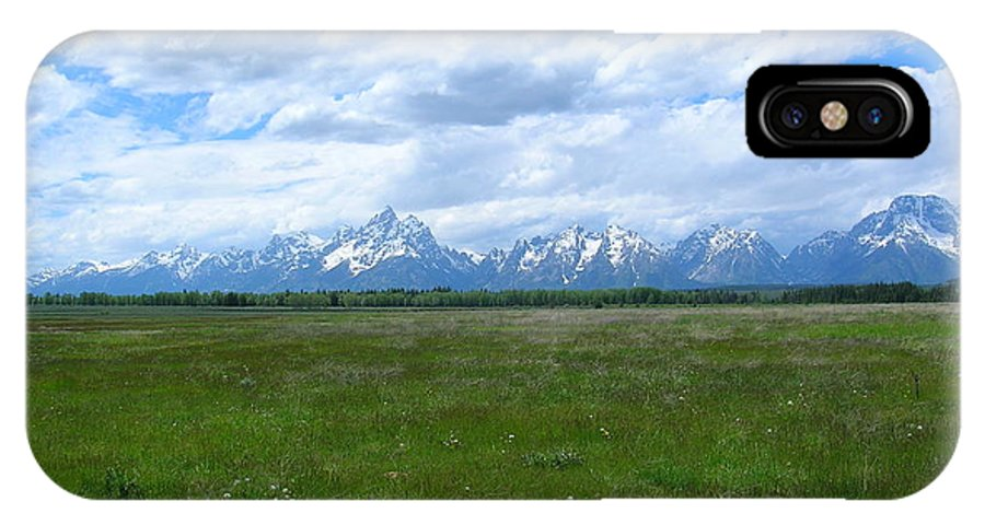 Grand Tetons IPhone X Case featuring the photograph Grand Tetons Meadow by George Jones