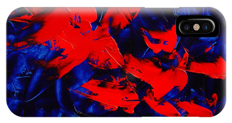 Abstract IPhone X Case featuring the painting Grandma II by Dean Triolo