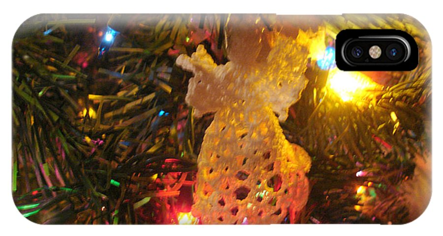 Christmas IPhone X / XS Case featuring the photograph Grandmas Christmas Angel by Susan Kubes