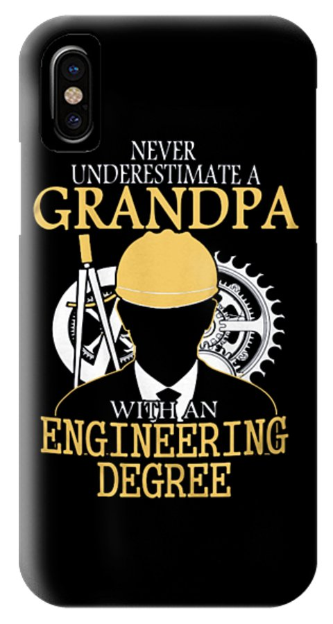 IPhone X Case featuring the photograph Grandpa Engineer by Thucidol