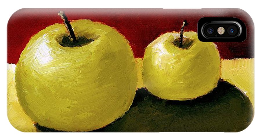 Apple IPhone Case featuring the painting Granny Smith Apples by Michelle Calkins