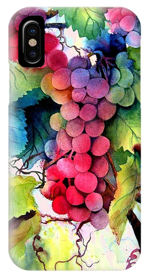 Grapes IPhone Case featuring the painting Grapes by Karen Stark