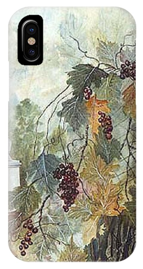 Fruit IPhone X Case featuring the painting Grapevine Topiary by Ben Kiger