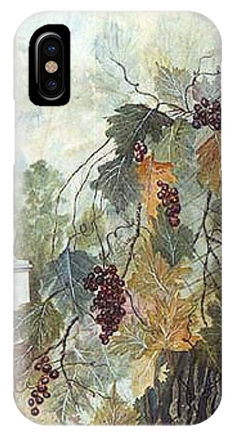 Fruit IPhone X / XS Case featuring the painting Grapevine Topiary by Ben Kiger