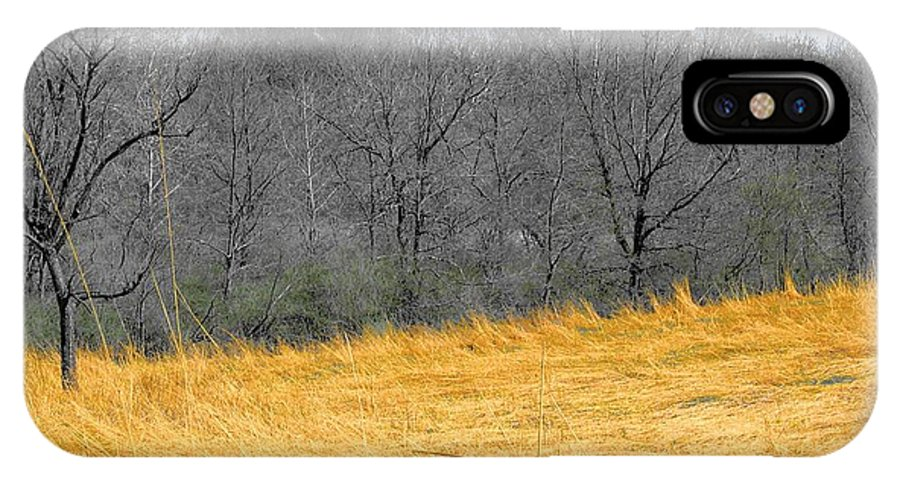Landscape IPhone X Case featuring the photograph Grass Of Fire by Dylan Punke