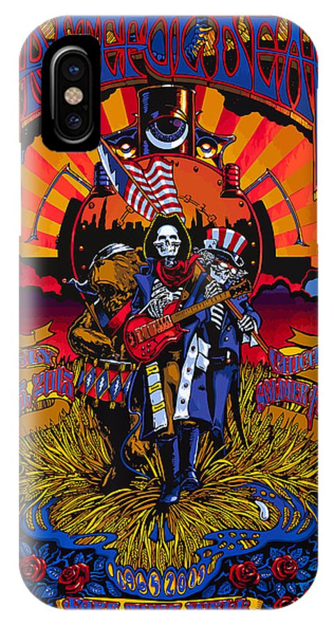 Grateful Dead IPhone X Case featuring the digital art Grateful Deads Soldier Field Chicago by The Deads