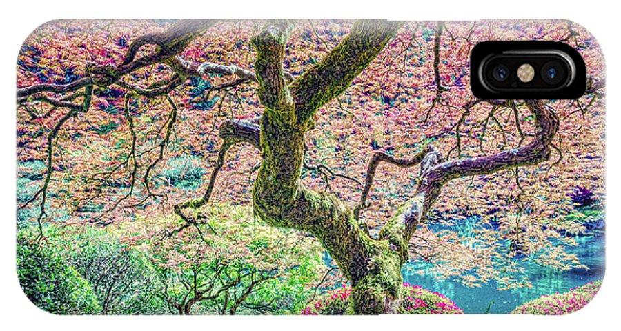 Tree IPhone X Case featuring the photograph Gratitude Tree by Jean OKeeffe Macro Abundance Art