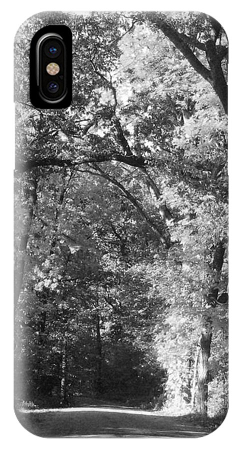 Back IPhone X Case featuring the photograph Graves Rd by September Stone