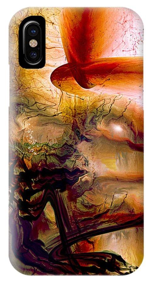Gravity Of Love IPhone X / XS Case featuring the digital art Gravity Of Love by Linda Sannuti