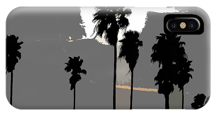 Palms IPhone X Case featuring the painting Gray Palms by David Lee Thompson
