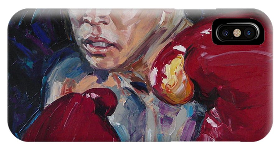 Figurative IPhone X Case featuring the painting Great Ali by Sergey Ignatenko