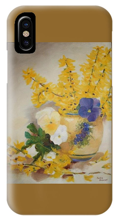 Still Life IPhone X Case featuring the painting Greek Vase by Sandra Bourret