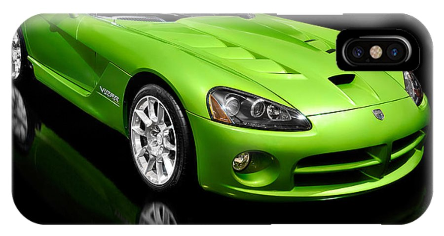 Dodge Viper IPhone X Case featuring the photograph Green 2008 Dodge Viper Srt10 Roadster by Oleksiy Maksymenko