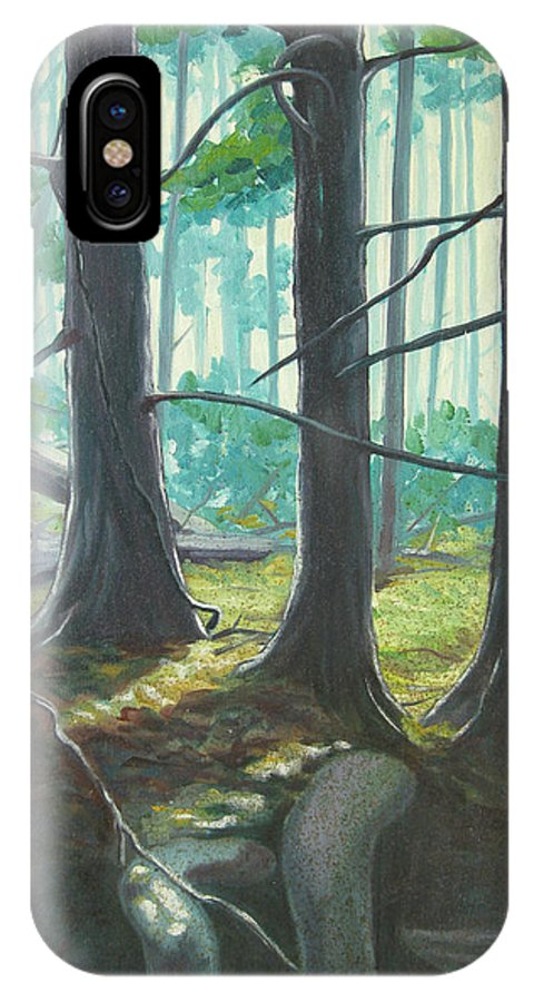 Forest IPhone Case featuring the painting Green Air by D T LaVercombe
