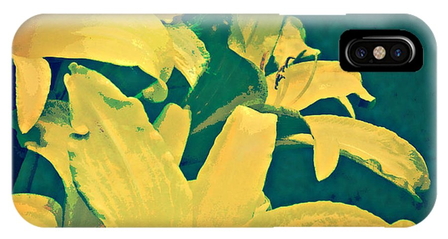 IPhone X / XS Case featuring the painting Green And Gold by Anne Alfaro