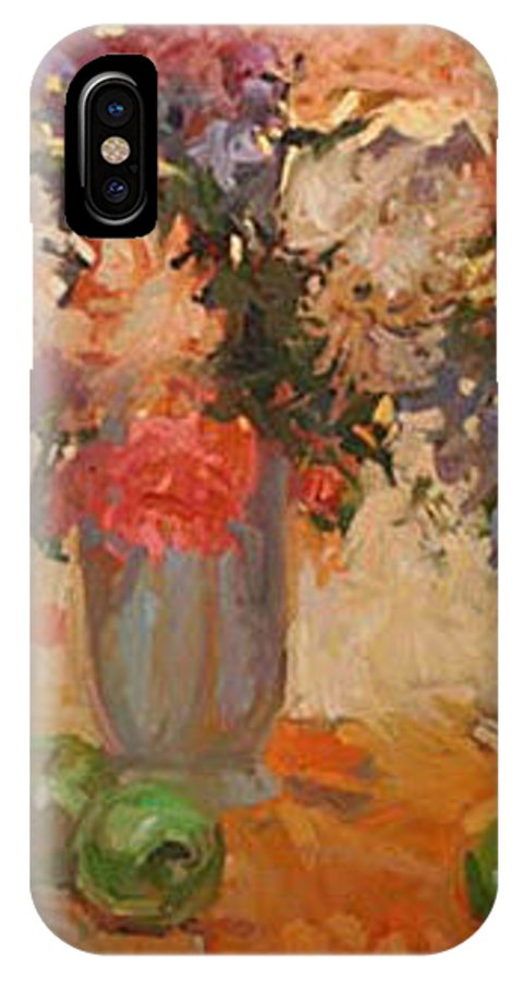 Still Life IPhone X Case featuring the painting Green Apples by Betty Jean Billups