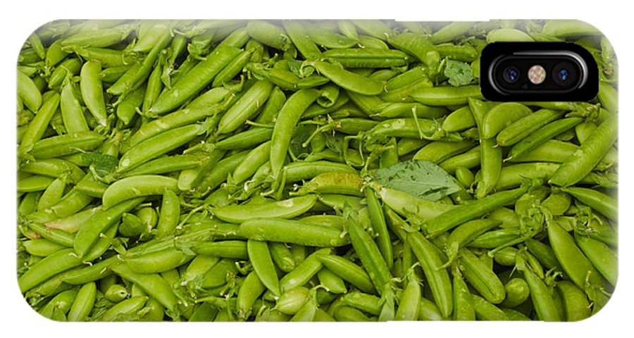 Green IPhone X Case featuring the photograph Green Beans by Thomas Marchessault