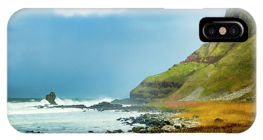 Giant's Causeway IPhone X Case featuring the photograph Green Giant by Photopoint Art