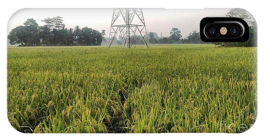 Green Grass IPhone X Case featuring the pyrography Green Grass by Saikat Das