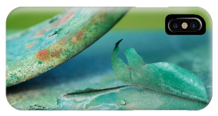 Green IPhone X Case featuring the photograph Green by Lisa Knechtel
