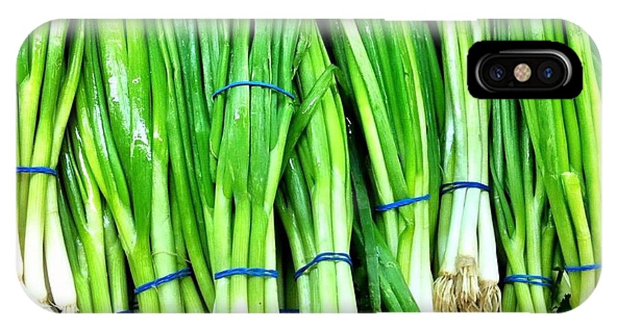 Produce Store IPhone X Case featuring the photograph Green Onions by Carlos Avila