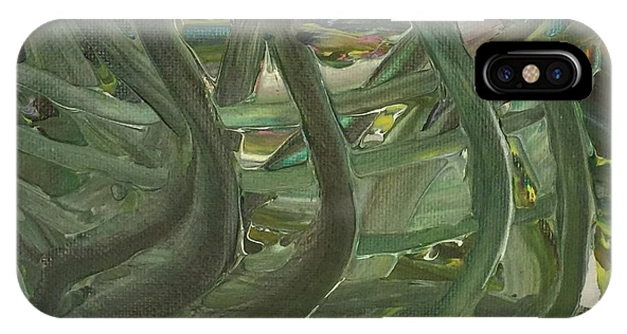 Landscaping IPhone X / XS Case featuring the painting Green Power by Debra Mendes