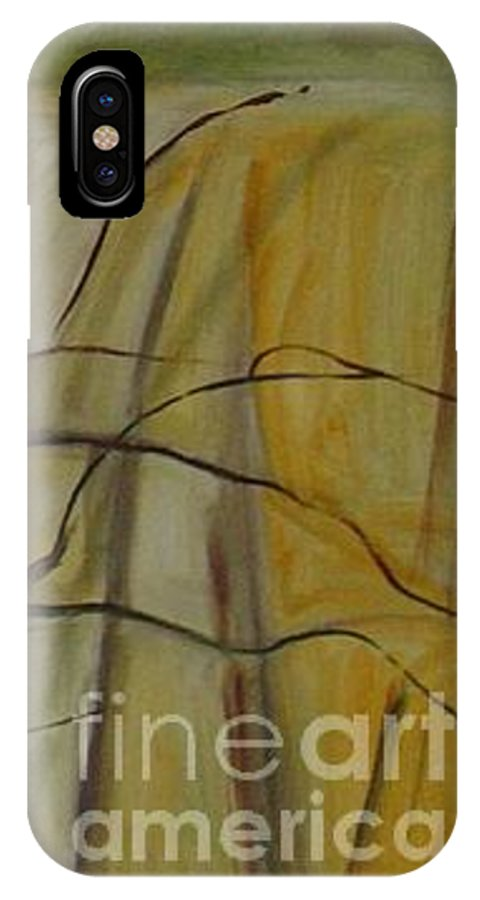 Spring Young Trees Saplings Trees IPhone Case featuring the painting Green Sonnet by Leila Atkinson