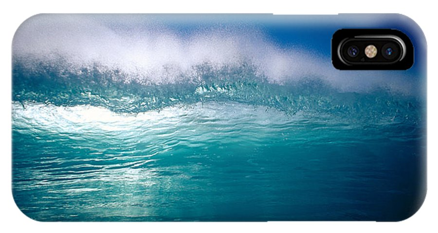 Backlit IPhone X Case featuring the photograph Green Wave by Vince Cavataio - Printscapes