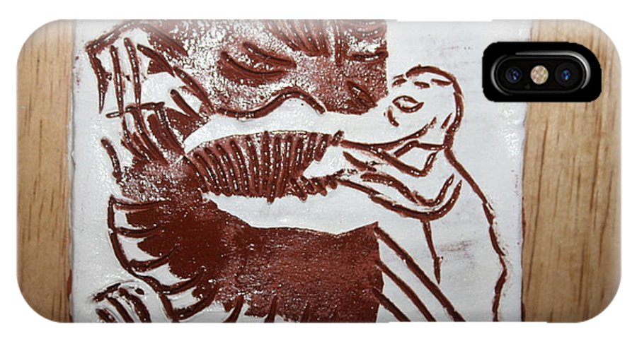 Gloria Photosgloria Photospineapple2pineapple IPhone X Case featuring the ceramic art Greeting 9 - Tile by Gloria Ssali