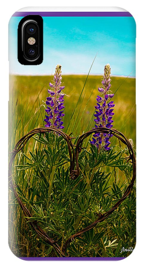 Wildflower IPhone X Case featuring the photograph Greeting Card - Lupine Love by Jerrie Bullock