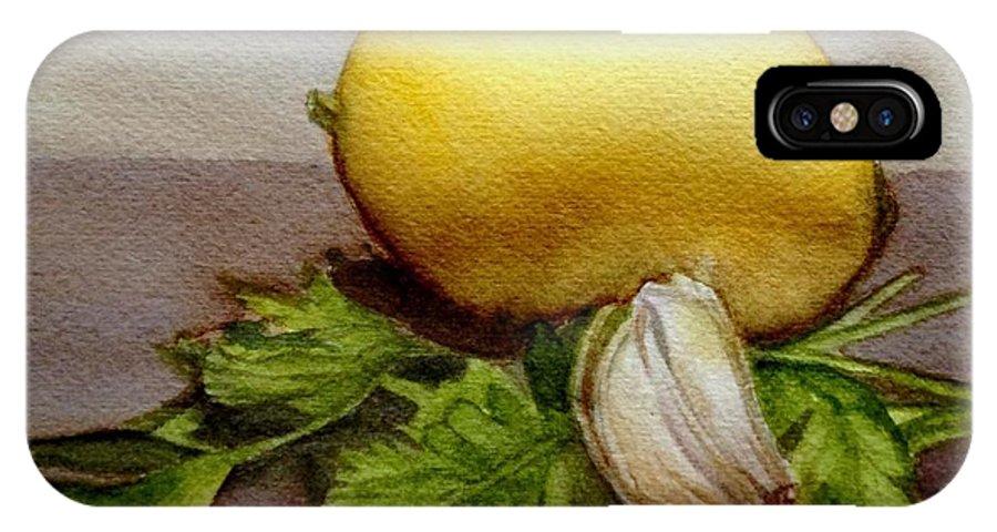 Gremolata IPhone X Case featuring the painting Gremolata by Nicole Curreri