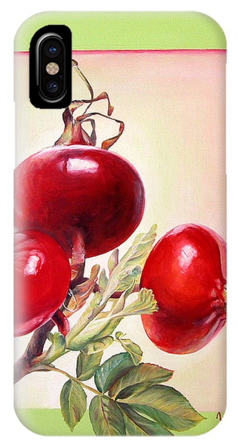 Still Life IPhone X Case featuring the painting Grenadine by Muriel Dolemieux
