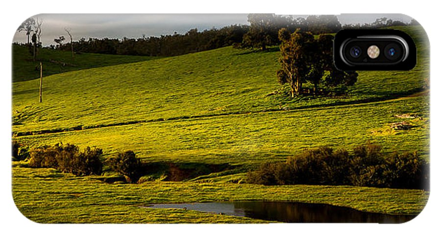Paddock IPhone X Case featuring the photograph Green Field by George Harris