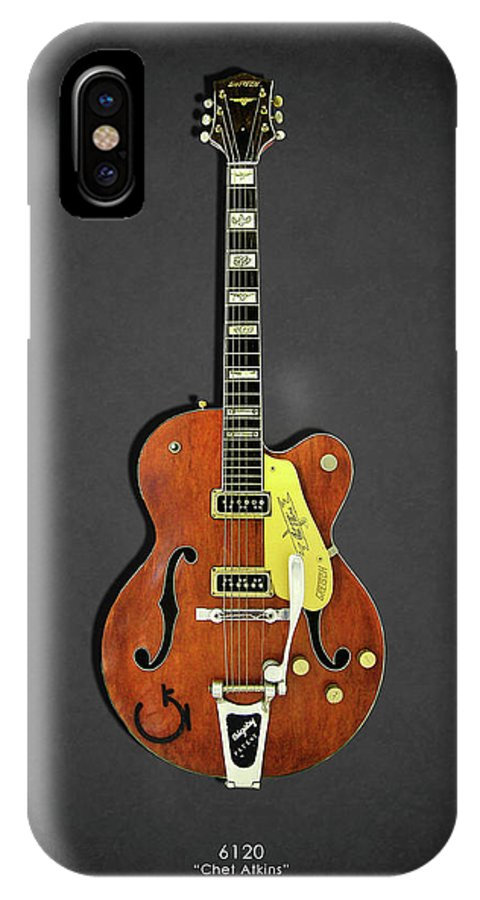 Gretsch Guitar IPhone X Case Featuring The Photograph 6120 1956 By Mark Rogan