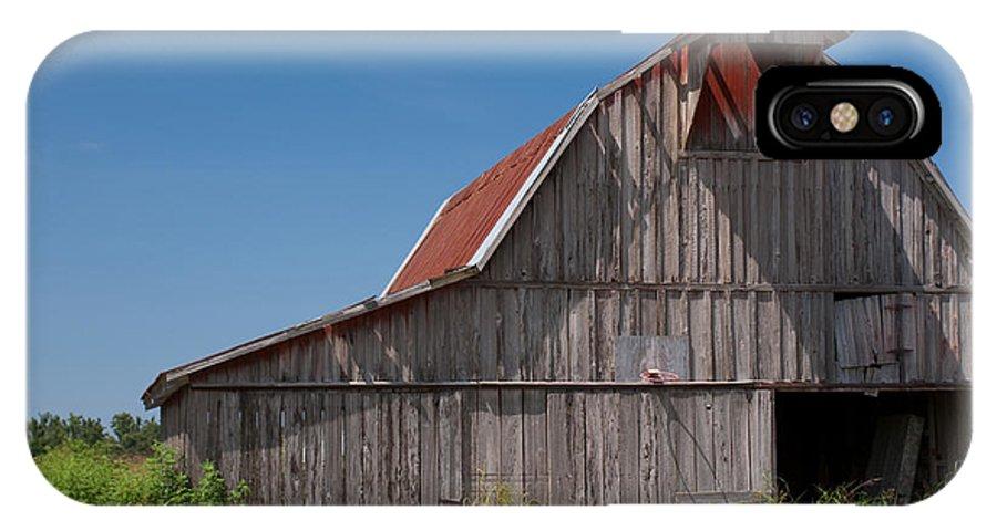 Barn IPhone X Case featuring the photograph Grey Barn by Douglas Barnett