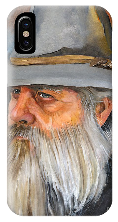 Wizard IPhone X Case featuring the painting Grey Days by J W Baker