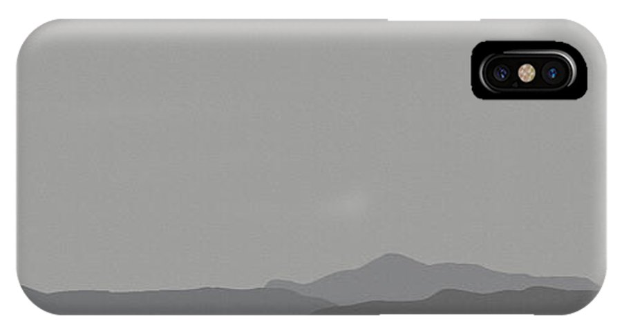 San Jacinto Mountain Range IPhone X / XS Case featuring the mixed media Grey San Jacintos by Stan Magnan