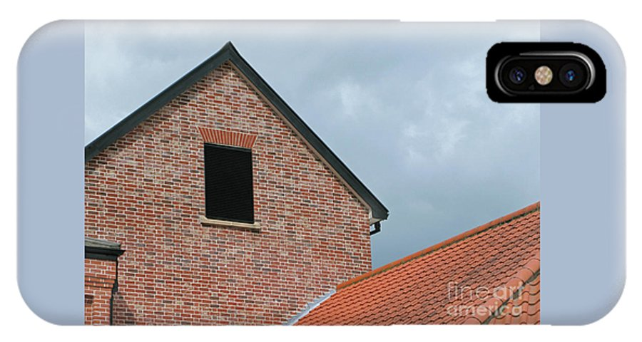 Brick IPhone X Case featuring the photograph Grey Skyline by Ann Horn