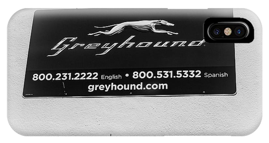 Greyhound IPhone X Case featuring the photograph Greyhound Bus Sign by William H Freeman Jr